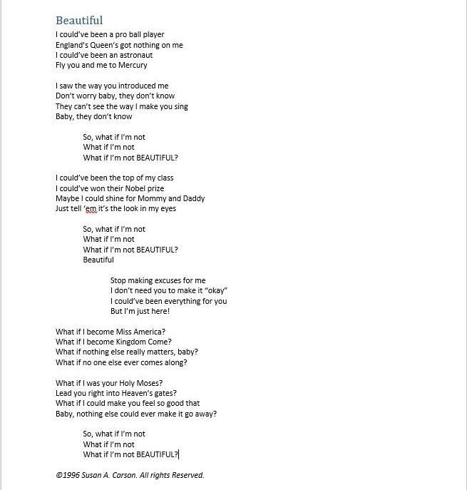 Original Lyrics | Art Music Life - CarsonArtMusic