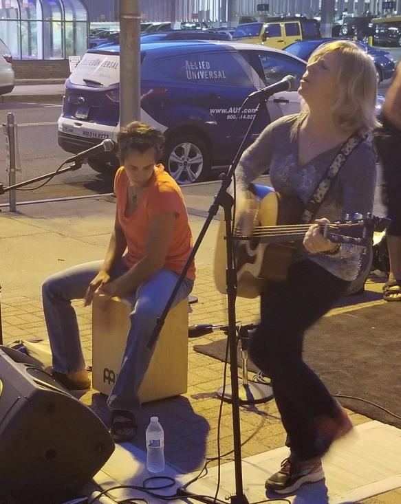 Susan and Laura performing at First Friday Norwalk CT. 10.6.2017. Photo credit Bob DAprile