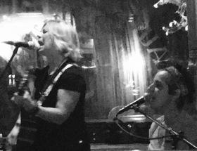 Susan and Laura (SnL) performing at Tautog Tavern, Bridgeport, CT. 9.24.2017. Photo credit Lance Raymond