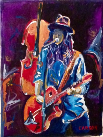 THE STORY. Acrylic on canvas paper. 12x16in. $192. Based on a shot of Brandi Carlile. One of the most passionate and colorful songwriters out there.