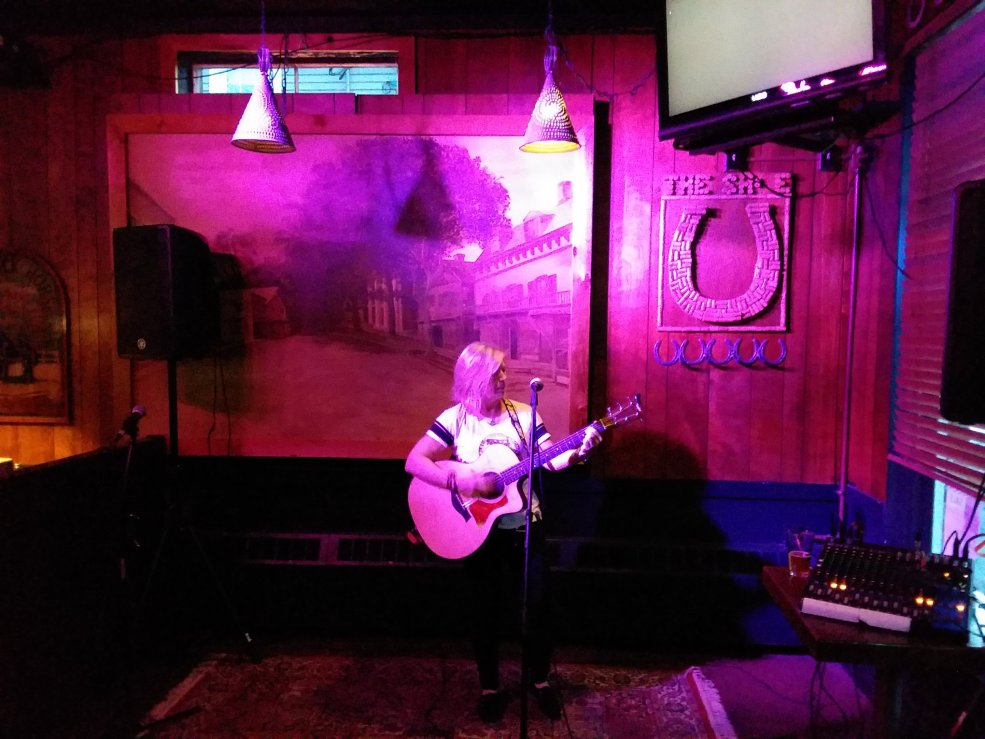 Live at Horse Shoe Cafe1 - by Curtis Streuli